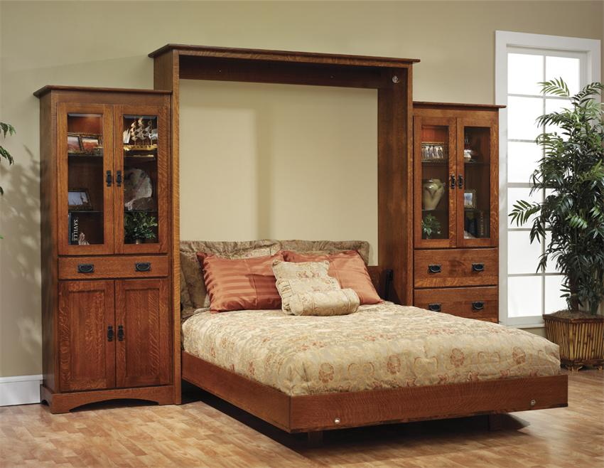 amish old english mission wall murphy bed