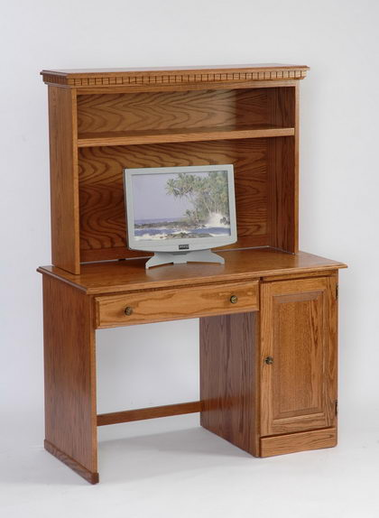 Amish Student Computer Desk with Optional Hutch Top
