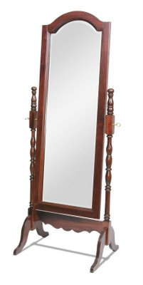 Amish Victorian Full Length Cheval Floor Mirror