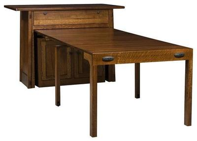 Amish Colbran Frontier Kitchen Island with Extending Table