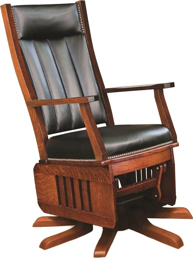 Amish Leola Mission Swivel Glider Rocking Chair