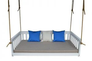 Amish Pine Wood Outdoor Hanging Daybed