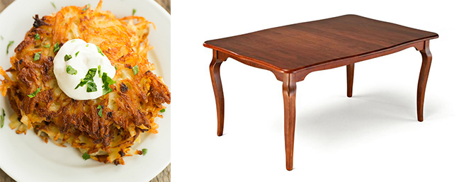 latkes and Amish Richland Dining Room Table