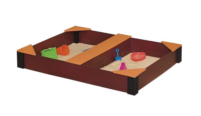 Amish Poly Wood Rectangle Kids Sandbox
