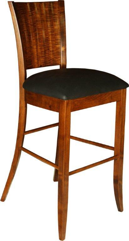 amish rippleback bar stool
