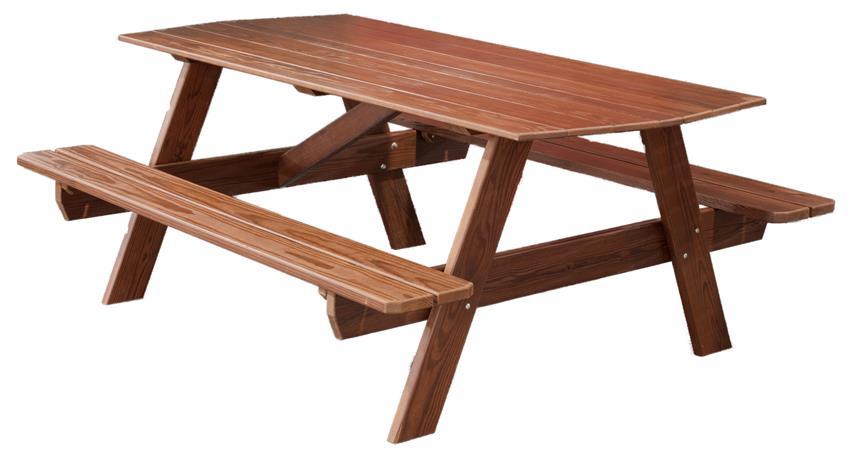 Amish 6' Picnic Table