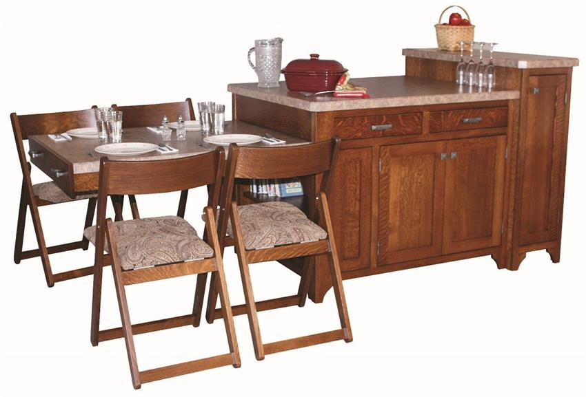Amish Space Server Kitchen Island