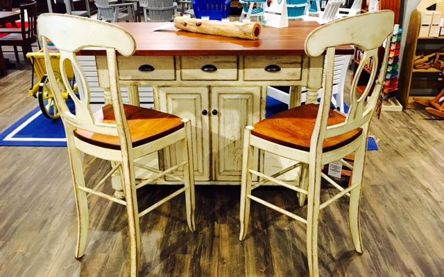 Amish French Country Kitchen Island Set