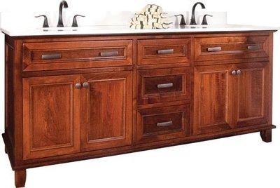 Amish 3 Drawer, 4 Door Bathroom Vanity