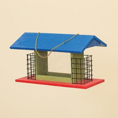 Amish Large Poly Rectangle Bird Feeder with Suet