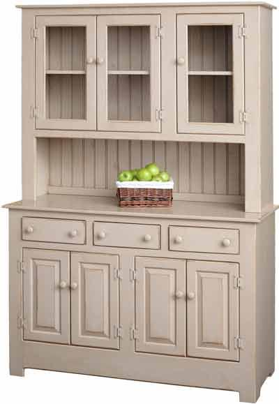 Amish Pine Wood Farmhouse Hutch
