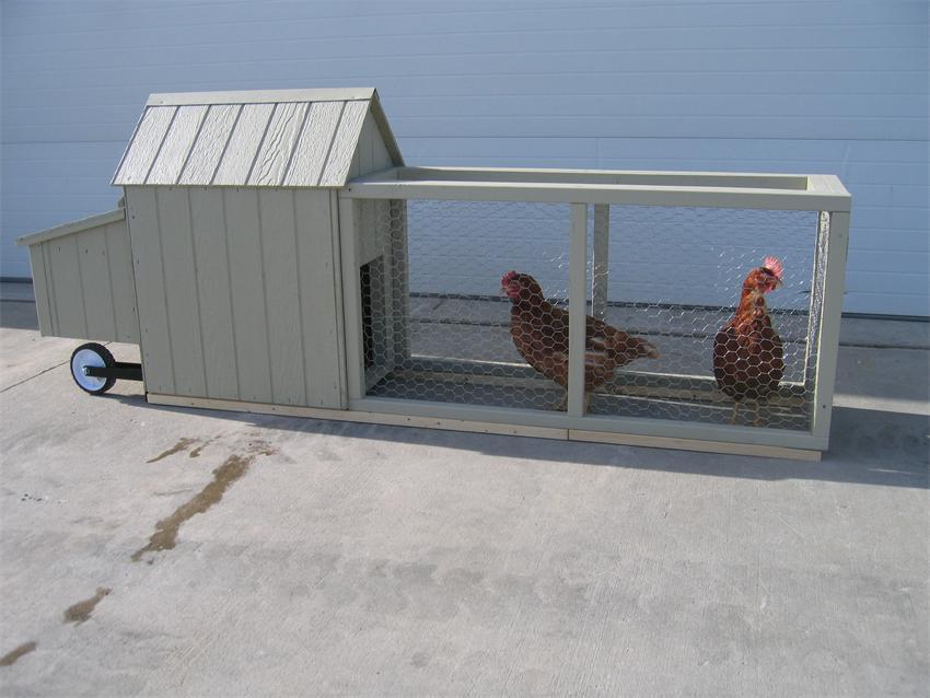 Amish Wood Corn Row Urban Chicken Coop