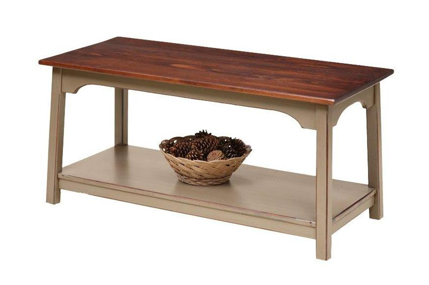 Amish Farmhouse Shaker Coffee Table in Pine Wood