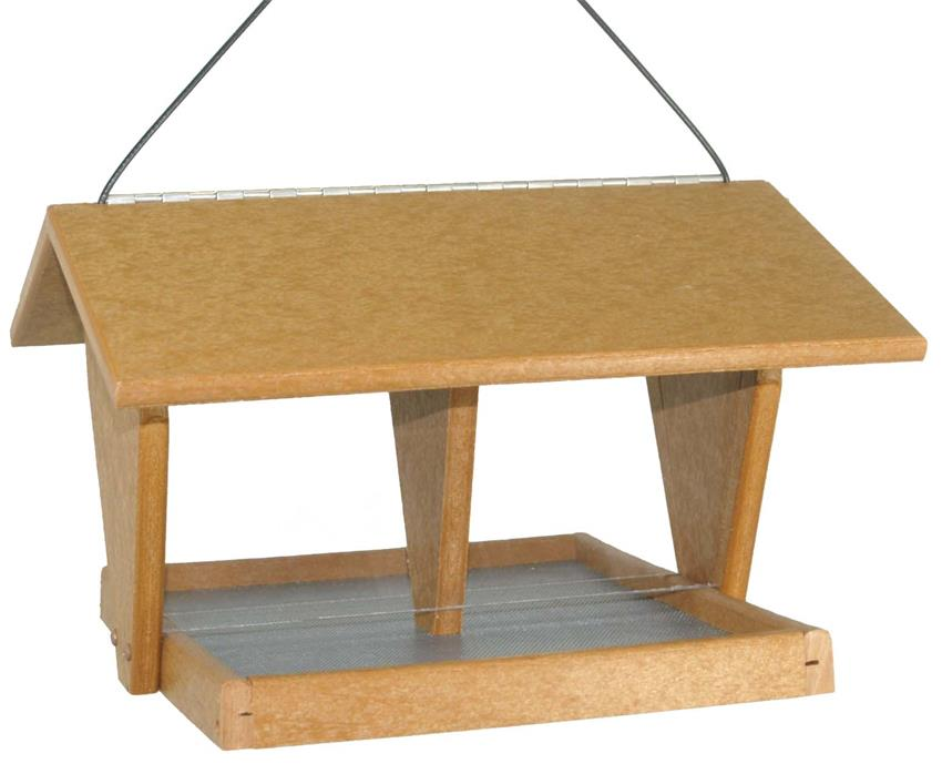 Amish Poly Wood Double Hopper Bird Feeder