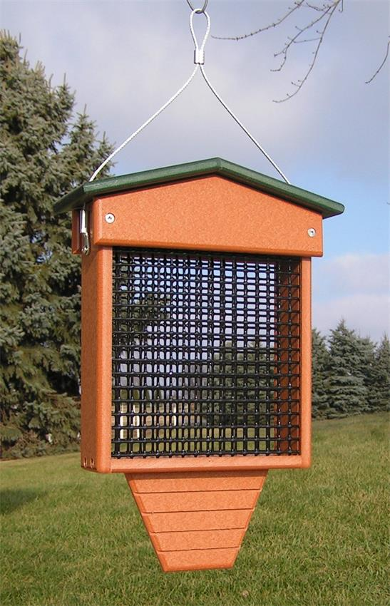 Amish Poly Tall Suet Bird Feeder