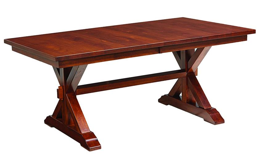Amish Lebanon Dining Trestle Table