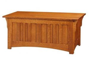 Amish Quarter Sawn White Oak Wood Mission Hope Chest