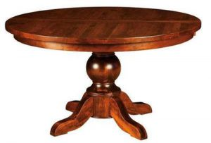 Carson Plank Top Pedestal Table