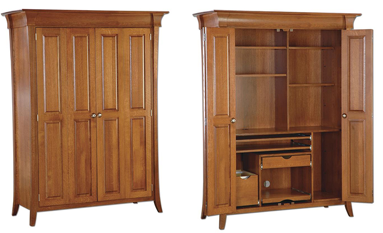 Amish Maxwell Computer Armoire