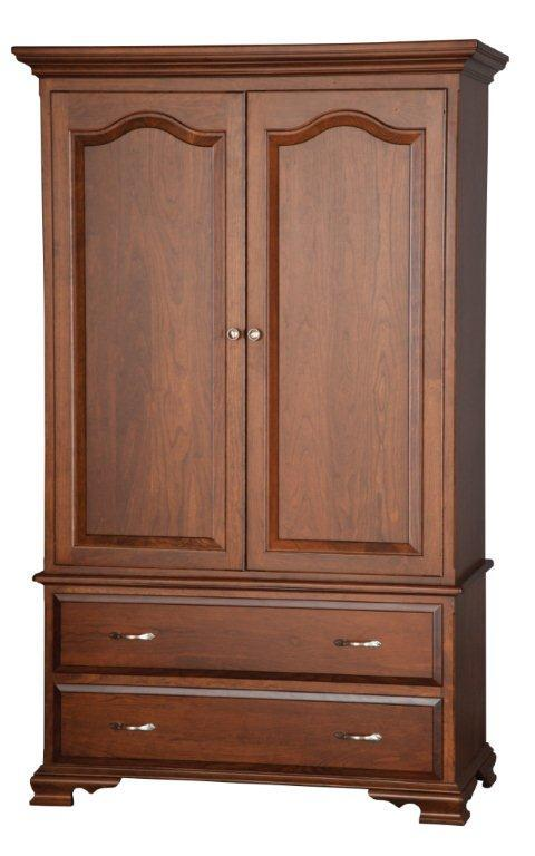 """Amish 48"""" Armoire With Optional Pocket Doors"""