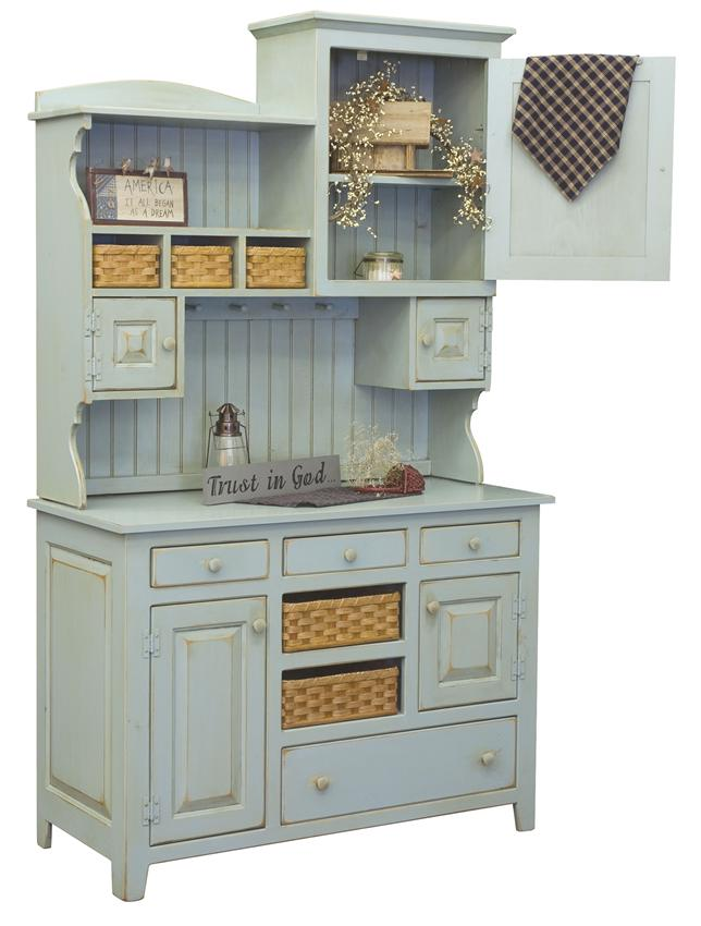 Amish Lizzie's Painted Pine Hutch