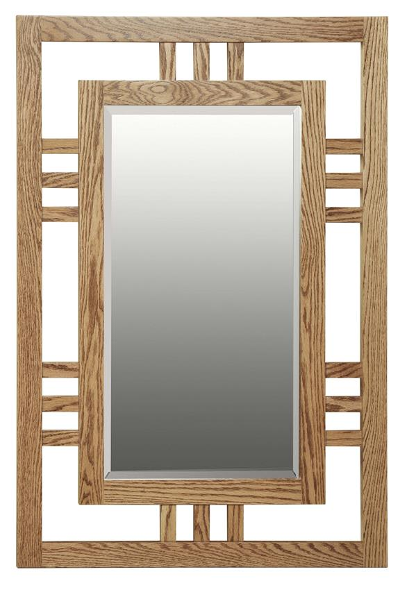 Amish Hardwood Large Modern Mission Mirror