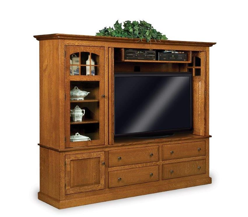 Amish Modern Mission Entertainment Center