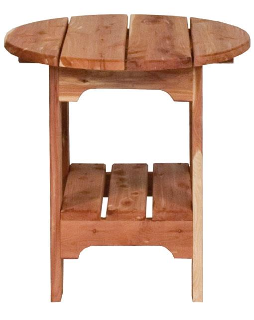 Amish Outdoor Round Side Table