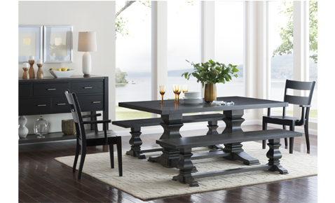American Made Napa Valley Solid Top Dining Table