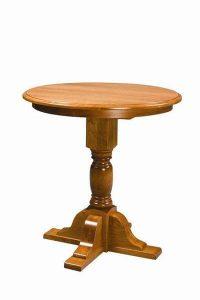 Amish Single Pedestal North Glenn High Dining Table