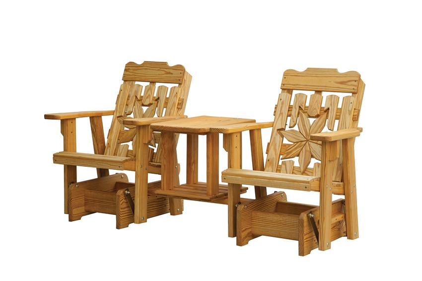 Amish Outdoor Cottage Deluxe Tete-Tete Gliders