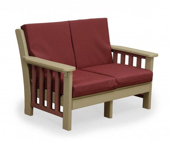 Amish Poly Wood Mission Love Seat
