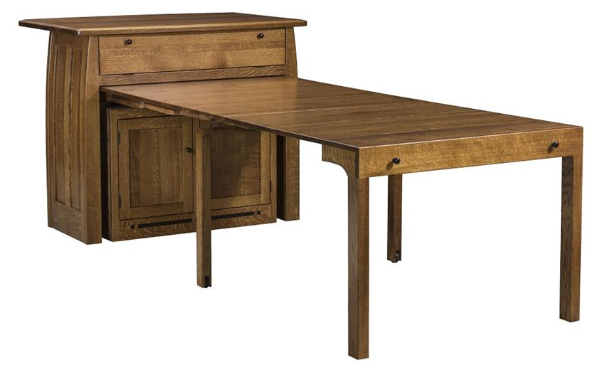 Boulder Creek Frontier Kitchen Island with Extending Table