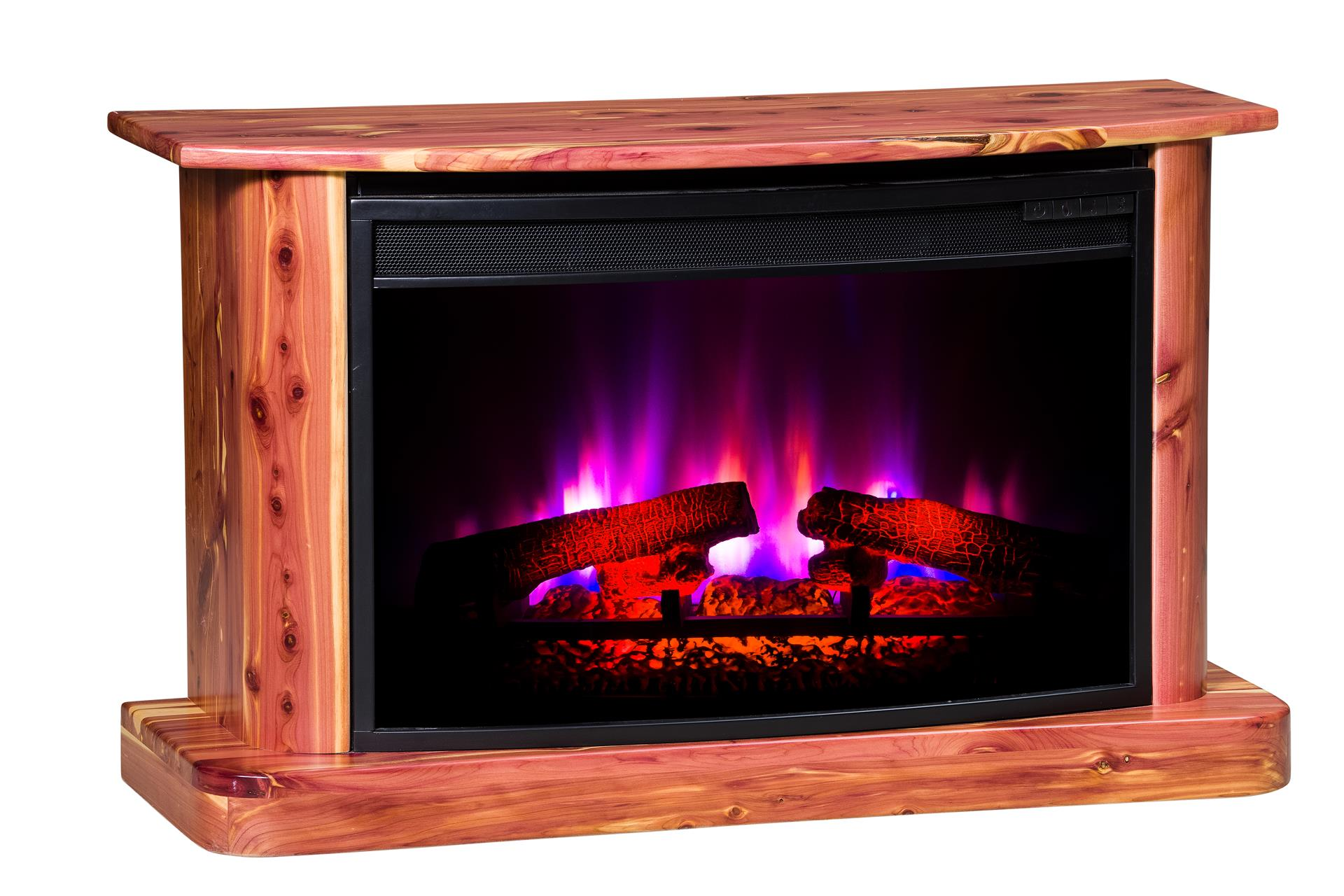 Outstanding Rustic Cedar Electric Fireplace From Dutchcrafters Amish Interior Design Ideas Inesswwsoteloinfo