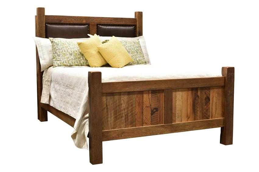 Reclaimed Barnwood Farmhouse Bed