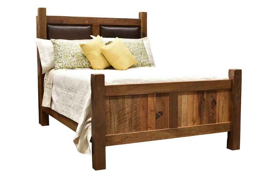 Reclaimed Barnwood Farmhouse Bed