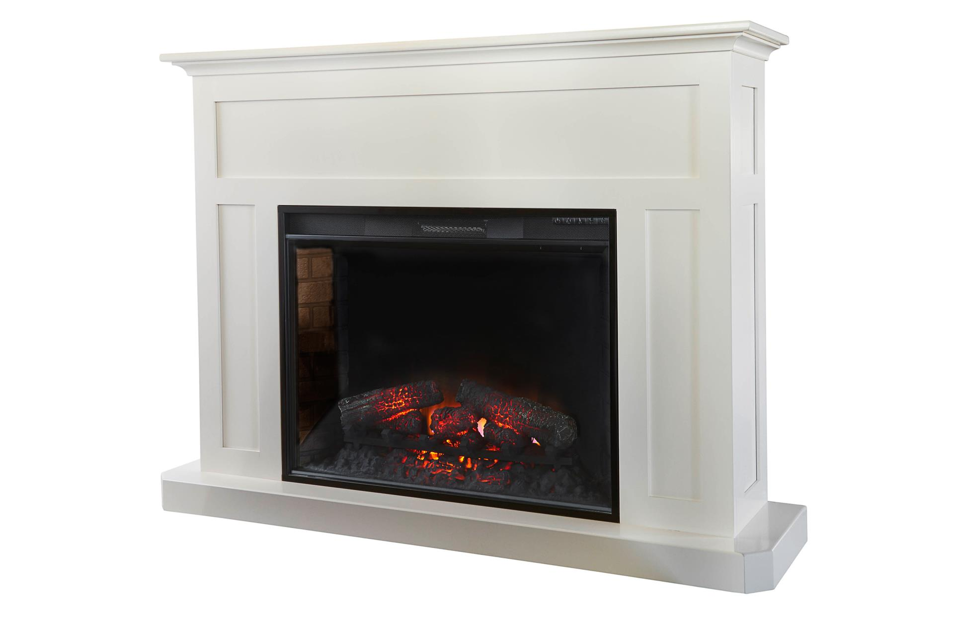 """Amish Fireplace Mantel with 33"""" Insert"""