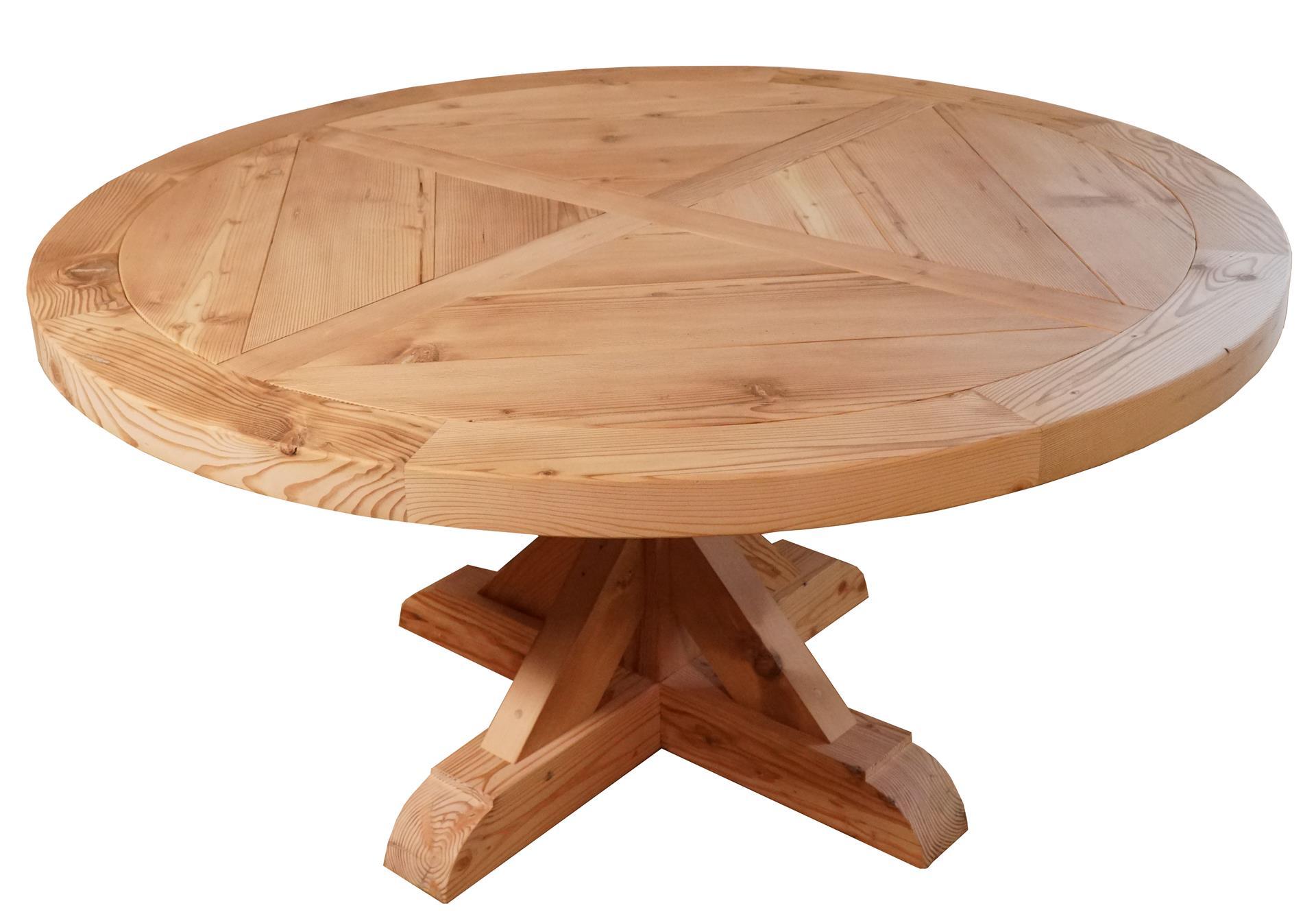 King Anna Barnwood Pedestal Table