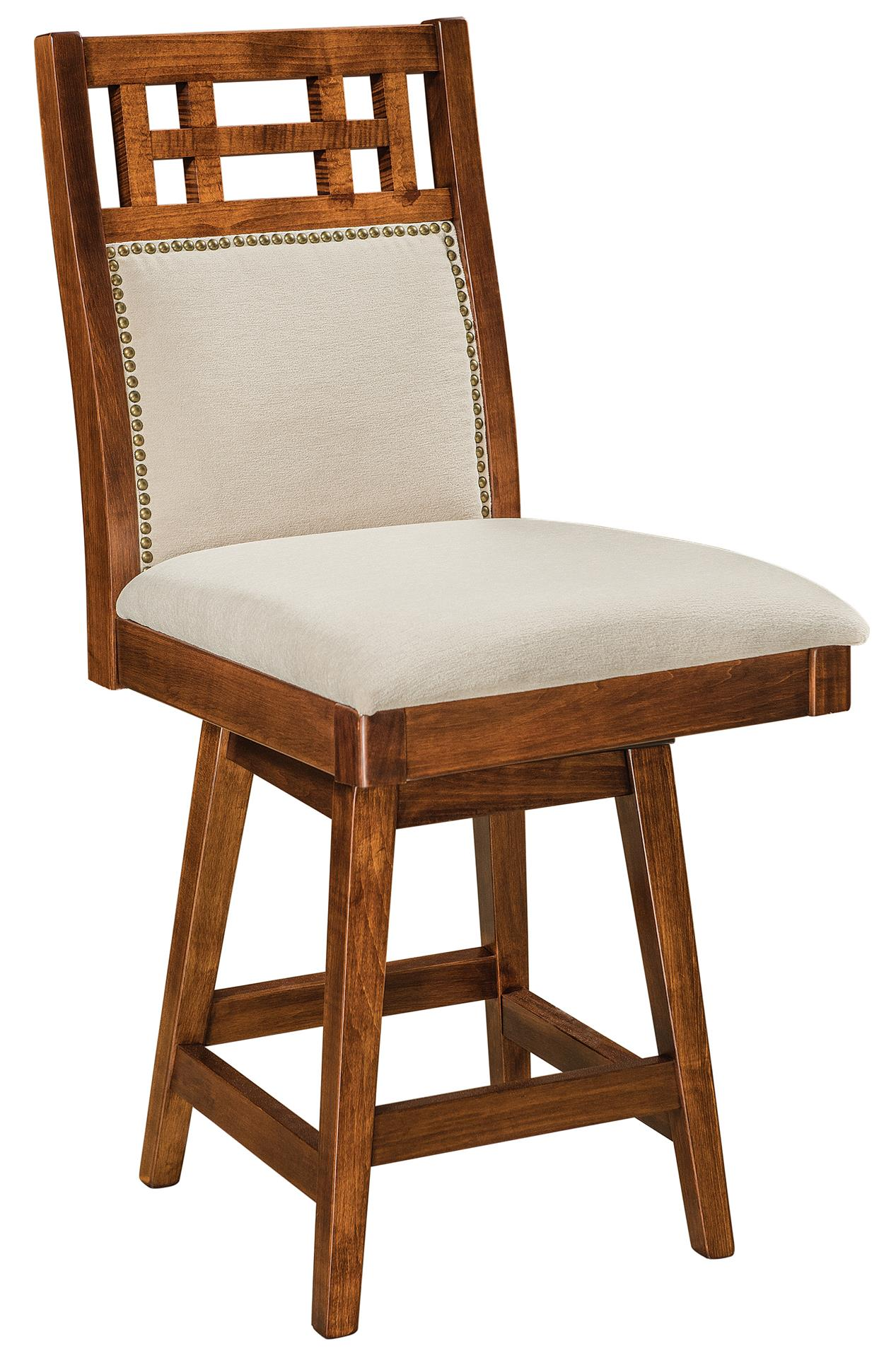 Amish Buckingham Swivel Bar Stool