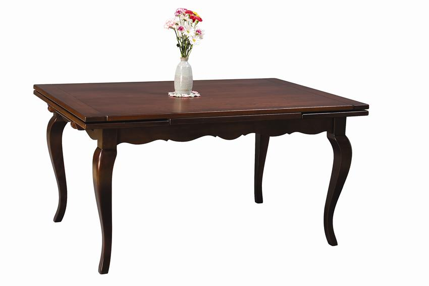 Amish French Country Stowleaf Draw Extension Dining Table