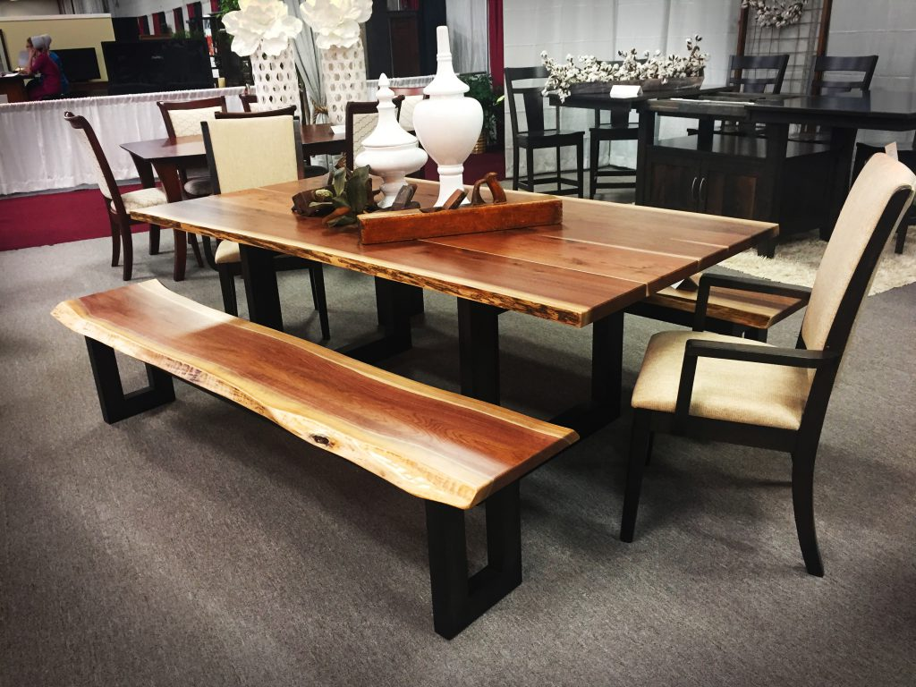 Kalispel Live Edge Table and Bench