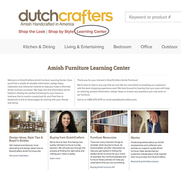 Learning Center Main Page