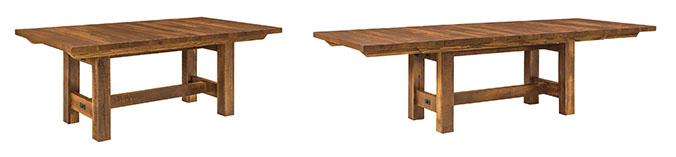 Reclaimed Wood Lynchburg Trestle Table