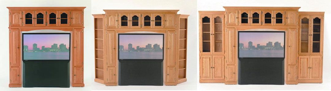 Amish Modular Wall Unit Entertainment Center