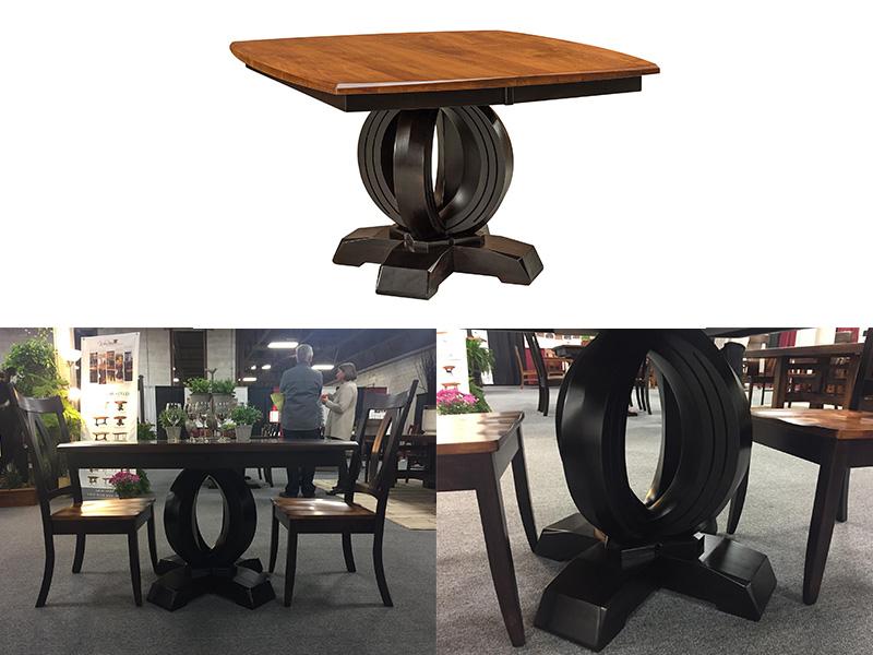 Amish Saratoga Single Dining Table