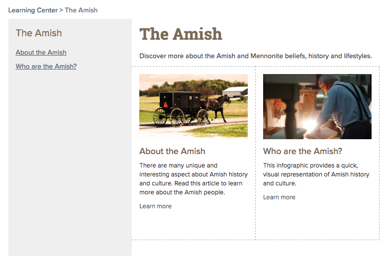The Amish Page Main Image
