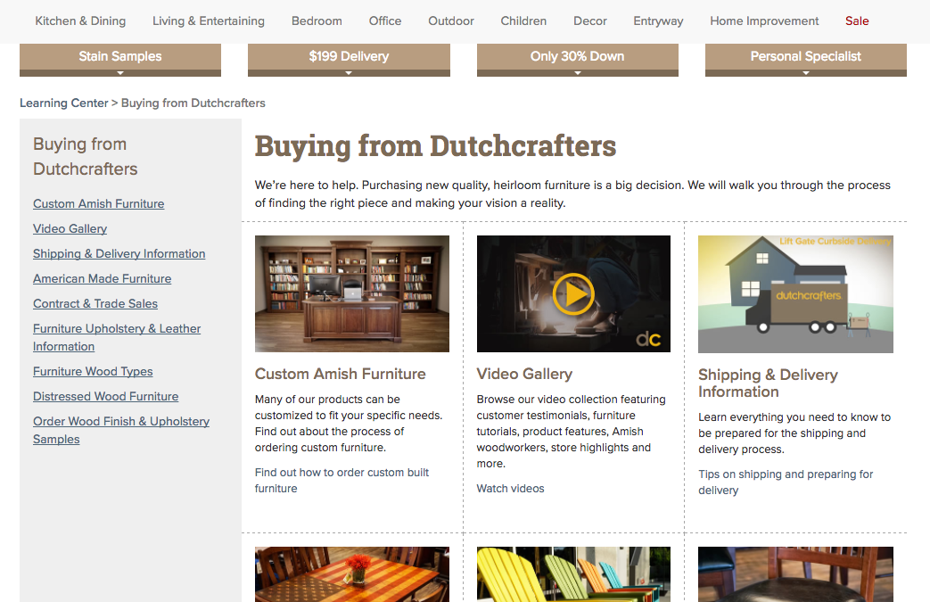 Buying from DutchCrafters Page
