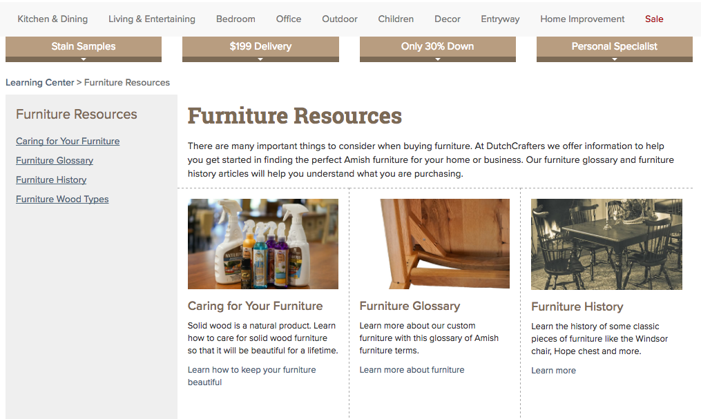 Furniture Resources Page