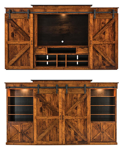 Sliding Door Teton Entertainment Center