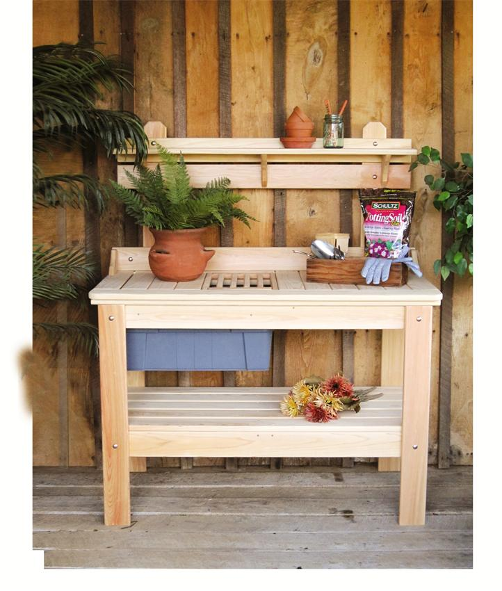 mish Cypress Outdoor Potting Table